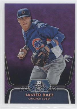 2012 Bowman Platinum Prospects Retail Purple Refractor #BPP85 - Javier Baez