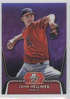 2012 Bowman Platinum Prospects Retail Purple Refractor #BPP87 - John Hellweg