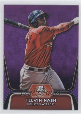 2012 Bowman Platinum Prospects Retail Purple Refractor #BPP89 - Telvin Nash