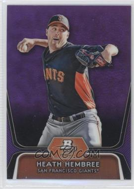 2012 Bowman Platinum Prospects Retail Purple Refractor #BPP91 - Heath Hembree