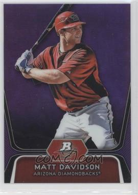 2012 Bowman Platinum Prospects Retail Purple Refractor #BPP96 - Matt Davidson