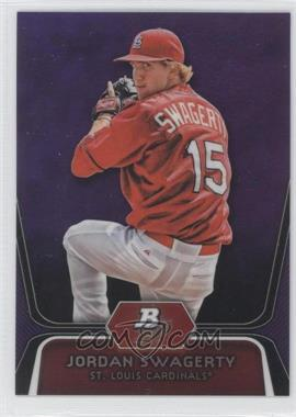 2012 Bowman Platinum Prospects Retail Purple Refractor #BPP98 - Jordan Swaggerty