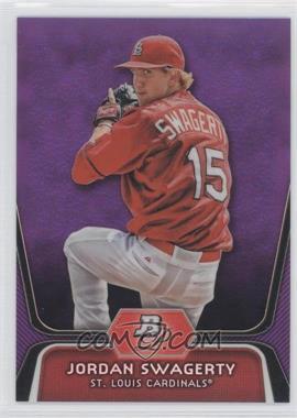 2012 Bowman Platinum Prospects Retail Purple Refractor #BPP98 - Jordan Swaggerty