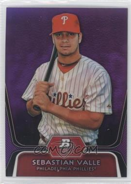 2012 Bowman Platinum Prospects Retail Purple Refractor #BPP99 - Sebastian Valle