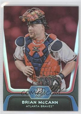 2012 Bowman Platinum Red #27 - Brian McCann