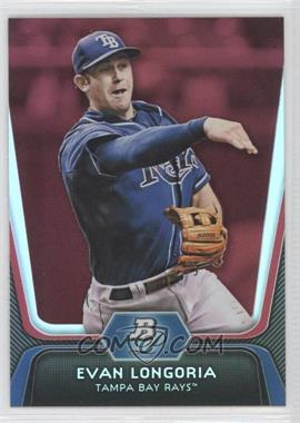 2012 Bowman Platinum Red #54 - Evan Longoria
