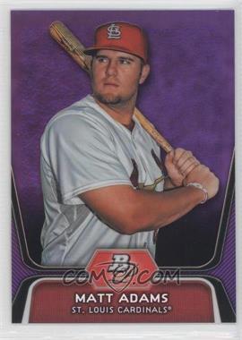 2012 Bowman Platinum Retail Prospects Purple Refractor #BPP1 - Matt Adams