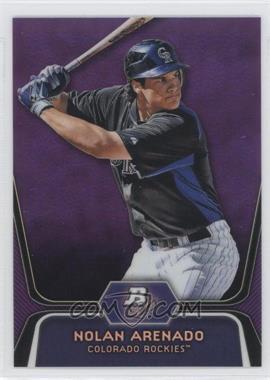 2012 Bowman Platinum Retail Prospects Purple Refractor #BPP2 - Nolan Arenado