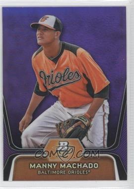 2012 Bowman Platinum Retail Prospects Purple Refractor #BPP23 - Manny Machado