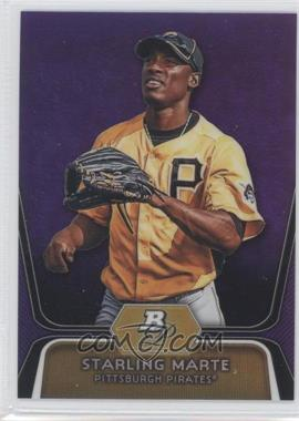 2012 Bowman Platinum Retail Prospects Purple Refractor #BPP24 - Starling Marte