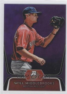 2012 Bowman Platinum Retail Prospects Purple Refractor #BPP26 - Will Middlebrooks