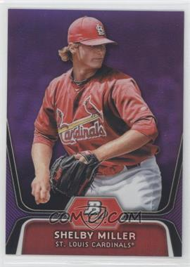2012 Bowman Platinum Retail Prospects Purple Refractor #BPP27 - Shelby Miller