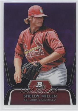 2012 Bowman Platinum Retail Prospects Purple Refractor #BPP27 - Shelby Miller