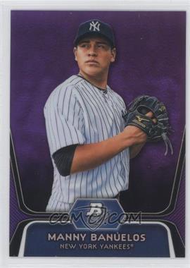 2012 Bowman Platinum Retail Prospects Purple Refractor #BPP3 - Manny Banuelos