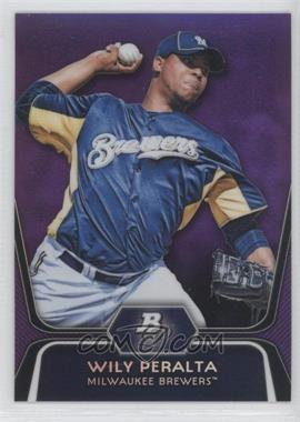 2012 Bowman Platinum Retail Prospects Purple Refractor #BPP33 - Wily Peralta
