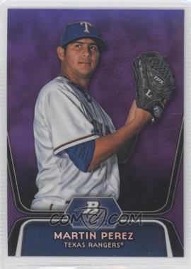 2012 Bowman Platinum Retail Prospects Purple Refractor #BPP34 - Martin Perez
