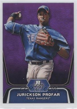 2012 Bowman Platinum Retail Prospects Purple Refractor #BPP35 - Jurickson Profar
