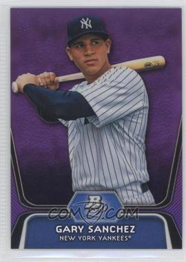 2012 Bowman Platinum Retail Prospects Purple Refractor #BPP38 - Gary Sanchez