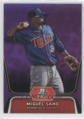 2012 Bowman Platinum Retail Prospects Purple Refractor #BPP39 - Miguel Sano