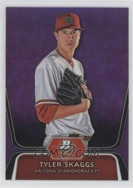 2012 Bowman Platinum Retail Prospects Purple Refractor #BPP42 - Tyler Skaggs