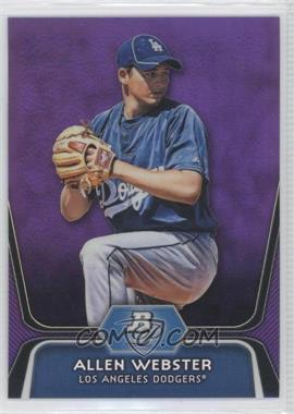 2012 Bowman Platinum Retail Prospects Purple Refractor #BPP47 - Allen Webster