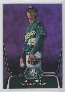 2012 Bowman Platinum Retail Prospects Purple Refractor #BPP52 - A.J. Cole