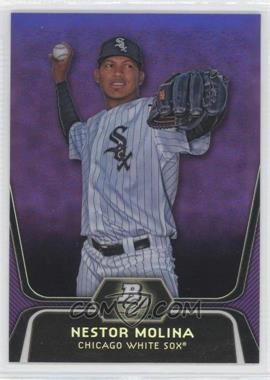 2012 Bowman Platinum Retail Prospects Purple Refractor #BPP55 - Nestor Molina