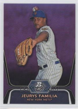 2012 Bowman Platinum Retail Prospects Purple Refractor #BPP56 - Jeurys Familia