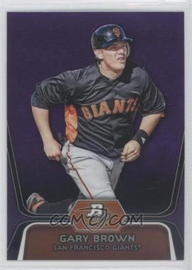 2012 Bowman Platinum Retail Prospects Purple Refractor #BPP6 - Gary Brown
