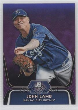 2012 Bowman Platinum Retail Prospects Purple Refractor #BPP63 - John Lamb