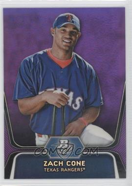2012 Bowman Platinum Retail Prospects Purple Refractor #BPP71 - Zach Cone