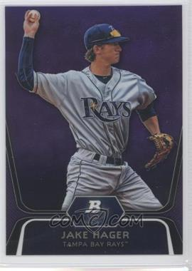 2012 Bowman Platinum Retail Prospects Purple Refractor #BPP74 - Jake Hager