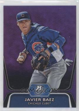 2012 Bowman Platinum Retail Prospects Purple Refractor #BPP85 - Javier Baez
