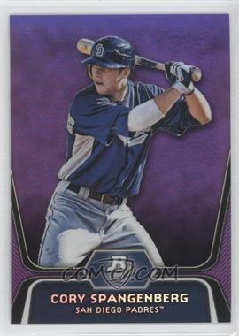 2012 Bowman Platinum Retail Prospects Purple Refractor #BPP86 - Cory Spangenberg