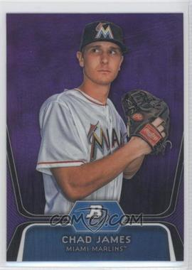 2012 Bowman Platinum Retail Prospects Purple Refractor #BPP88 - Chad James
