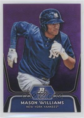 2012 Bowman Platinum Retail Prospects Purple Refractor #BPP90 - Mason Williams