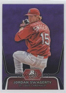 2012 Bowman Platinum Retail Prospects Purple Refractor #BPP98 - Jordan Swaggerty