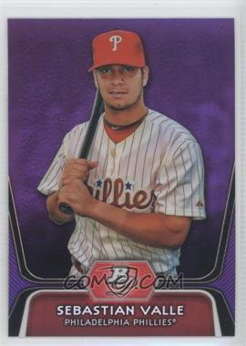2012 Bowman Platinum Retail Prospects Purple Refractor #BPP99 - Sebastian Valle