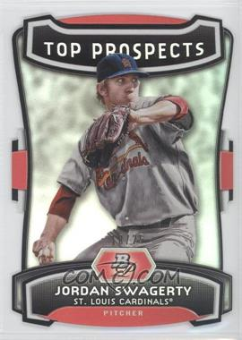 2012 Bowman Platinum Top Prospects Die-Cut #TP-JSW - Jordan Swaggerty /25