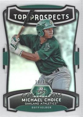 2012 Bowman Platinum Top Prospects Die-Cut #TP-MC - Michael Choice /25