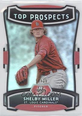 2012 Bowman Platinum Top Prospects Die-Cut #TP-SM - Shelby Miller /25