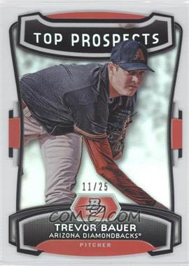 2012 Bowman Platinum Top Prospects Die-Cut #TP-TB - Trevor Bauer /25