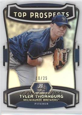 2012 Bowman Platinum Top Prospects Die-Cut #TP-TT - Tyler Thornburg /25