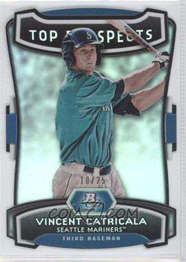 2012 Bowman Platinum Top Prospects Die-Cut #TP-VC - Vinnie Catricala /25