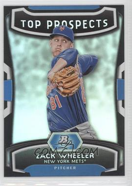 2012 Bowman Platinum Top Prospects #TP-ZW - Zack Wheeler