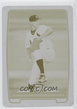 2012 Bowman Prospects Printing Plate Yellow #BP48 - Boone Whiting /1