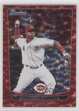 2012 Bowman Red Ice #145 - Brandon Phillips /25