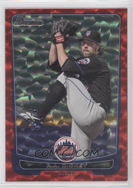 2012 Bowman Red Ice #160 - R.A. Dickey /25