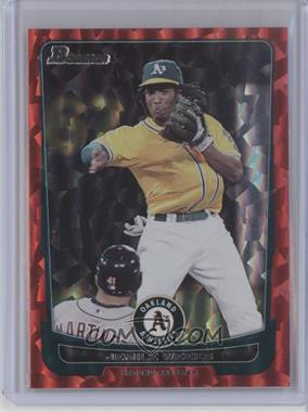 2012 Bowman Red Ice #61 - Jemile Weeks /25