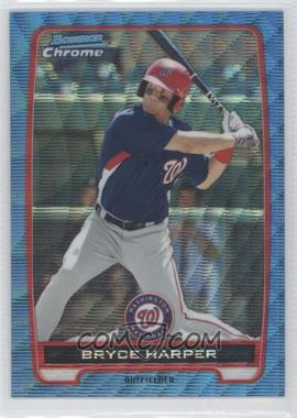 2012 Bowman Redemption Chrome Prospects Refractor Blue Wave #BCP10 - Bryce Harper